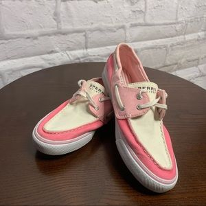 Sperry top-sider shoe pink White Size 8 Lace up
